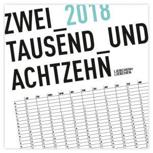 Kalender 2018 Minimalistic