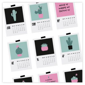 Kalender 2018 Cactus